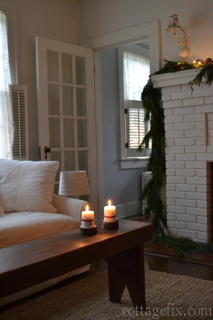 Cottage Fix blog - Christmas candlelight