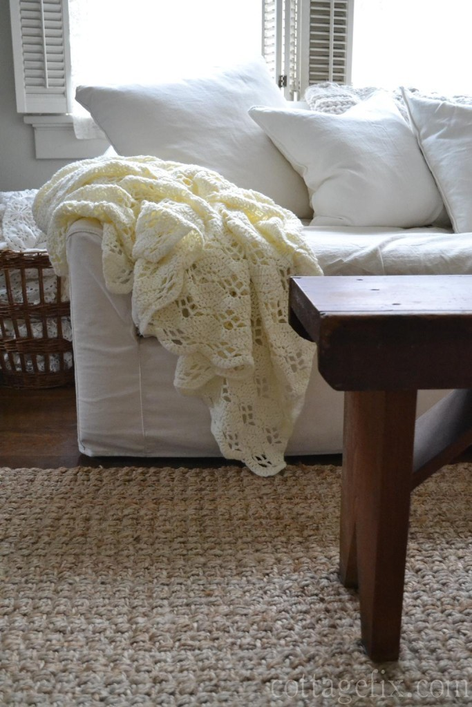 Cottage Fix blog - cozy knit throw blanket