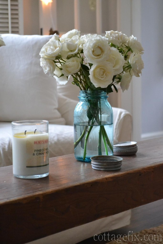 Cottage Fix blog - white spray roses