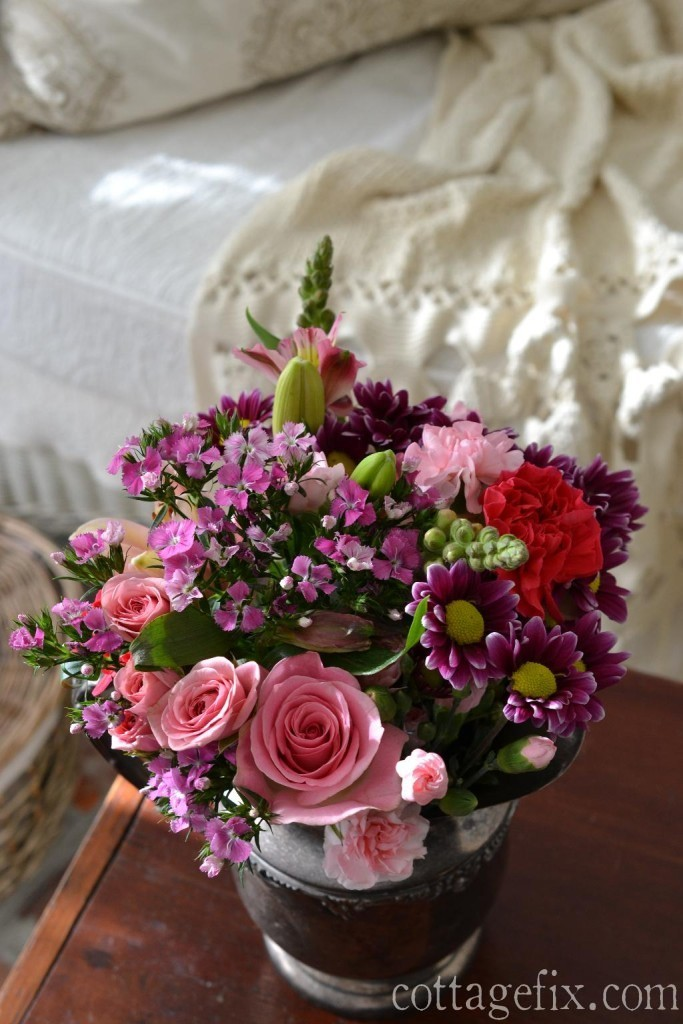 Cottage Fix blog - pink and purple posy