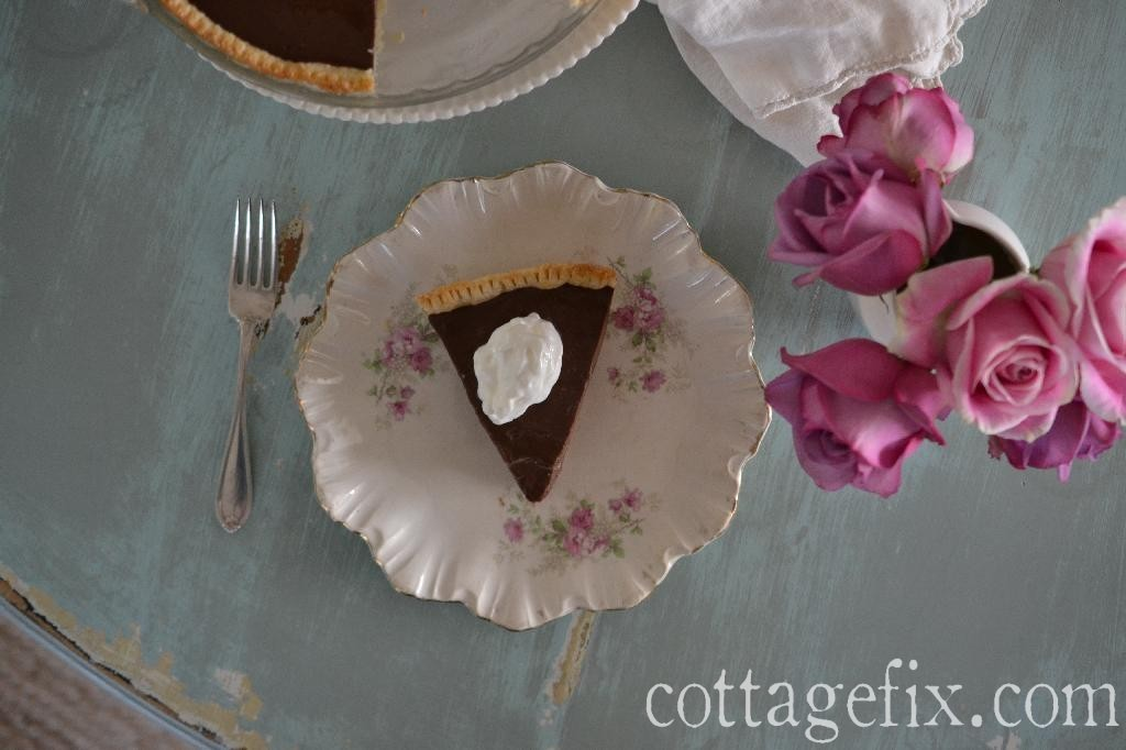 Cottage Fix blog - Uncle Allen's Stove Top Chocolate Pie recipe
