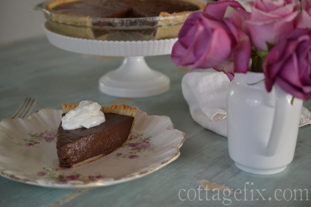 Cottage Fix blog - Uncle Allen's Stove Top Chocolate Pie recipe