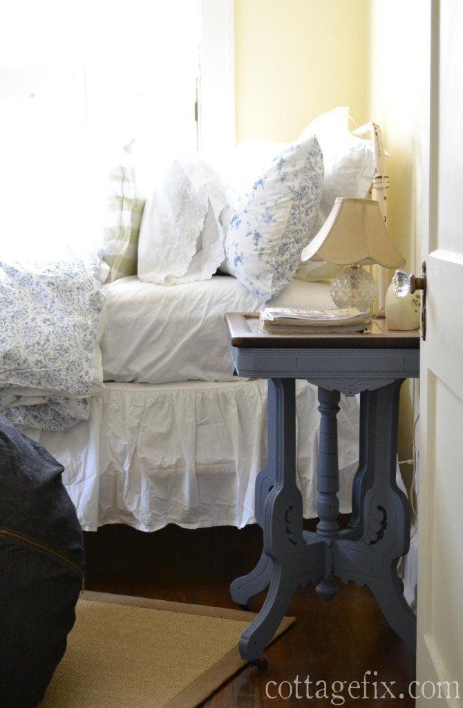 Cottage fix blog - Heirloom side table painted in Annie Sloan Old Violet