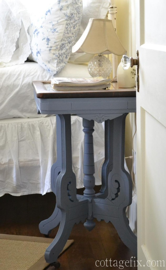 Cottage Fix blog - Annie Sloan Old Violet painted side table