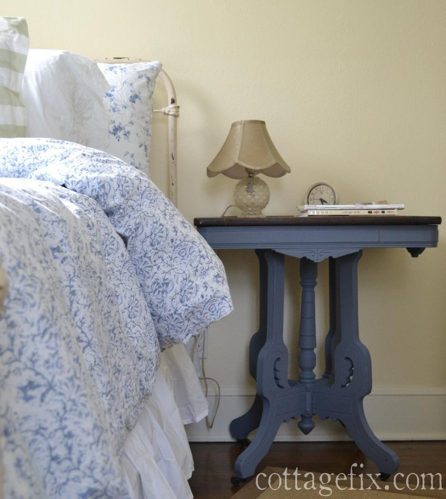 Cottage Fix blog - painted heirloom side table
