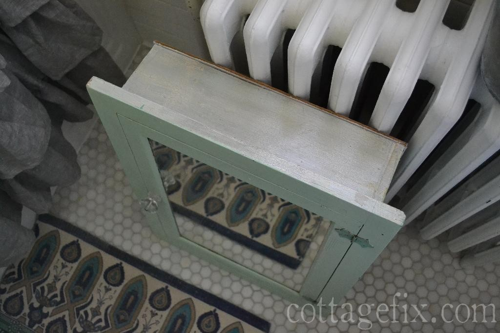 Cottage Fix blog - vintage green medicine cabinet