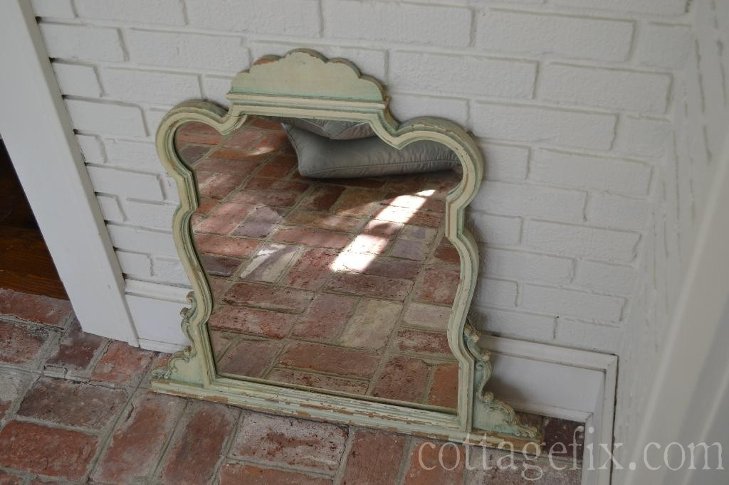 Cottage Fix blog - chippy paint mirror