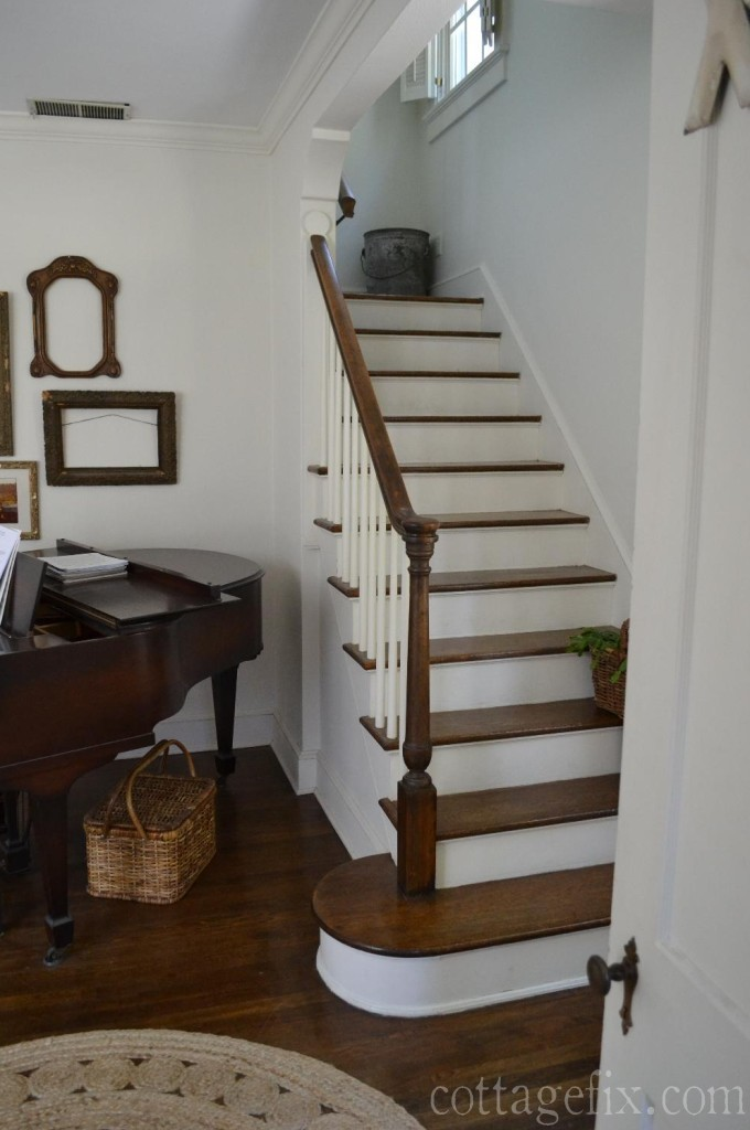 Cottage Fix blog - white stairwell