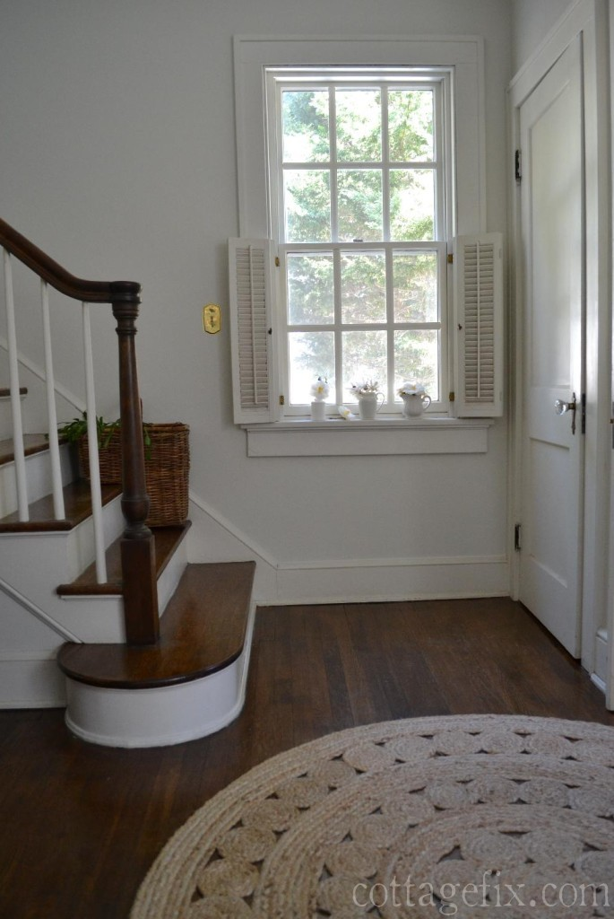 Cottage Fix blog - stairwell painted white