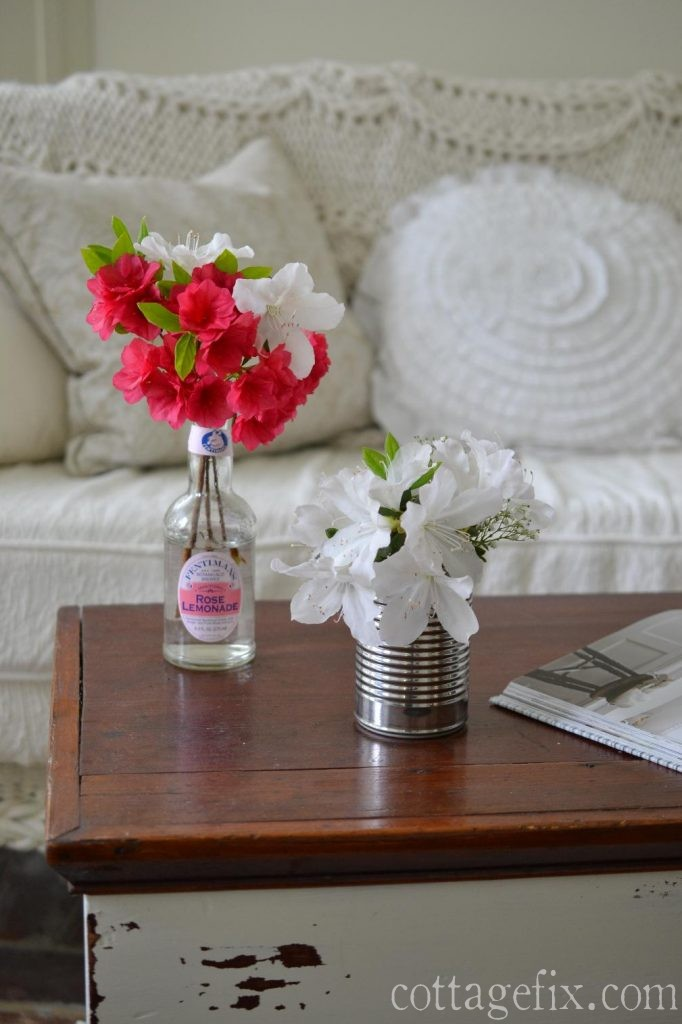 Cottage Fix blog - white and pink azaleas