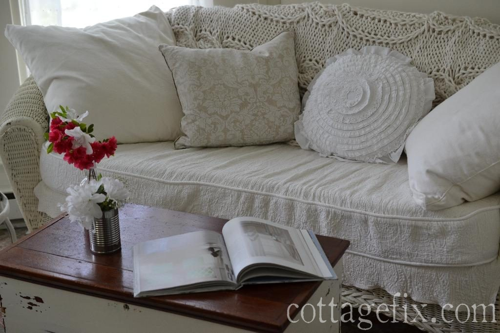 Cottage Fix blog - shabby chic pillows