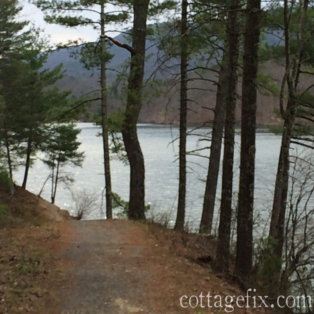 Cottage Fix blog - lakeside trail at Douthat State Park