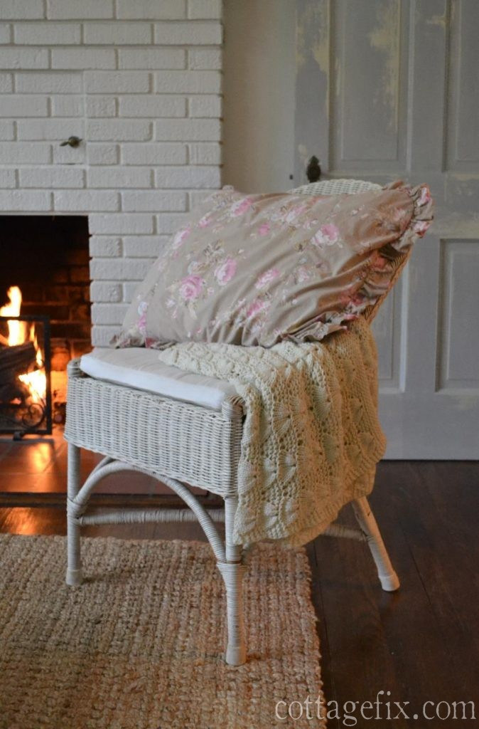 Cottage Fix blog - Simply Shabby Chic taupe and pink sham
