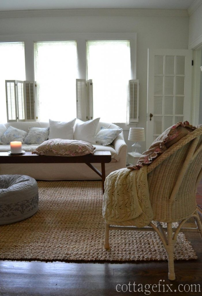 Cottage Fix blog - shabby chic in the living room