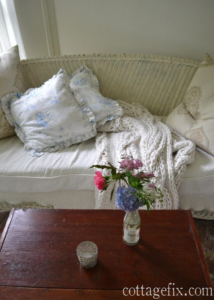 Cottage Fix blog - British rose, wicker, and flowers from the garden
