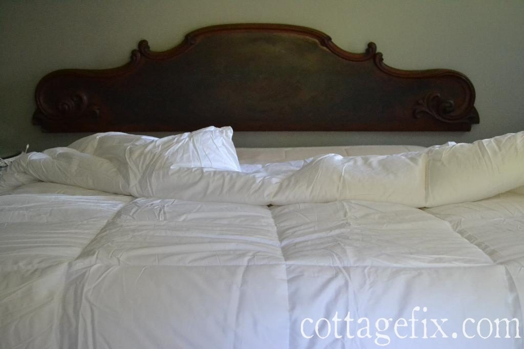 Cottage Fix blog - architectural salvage headboard