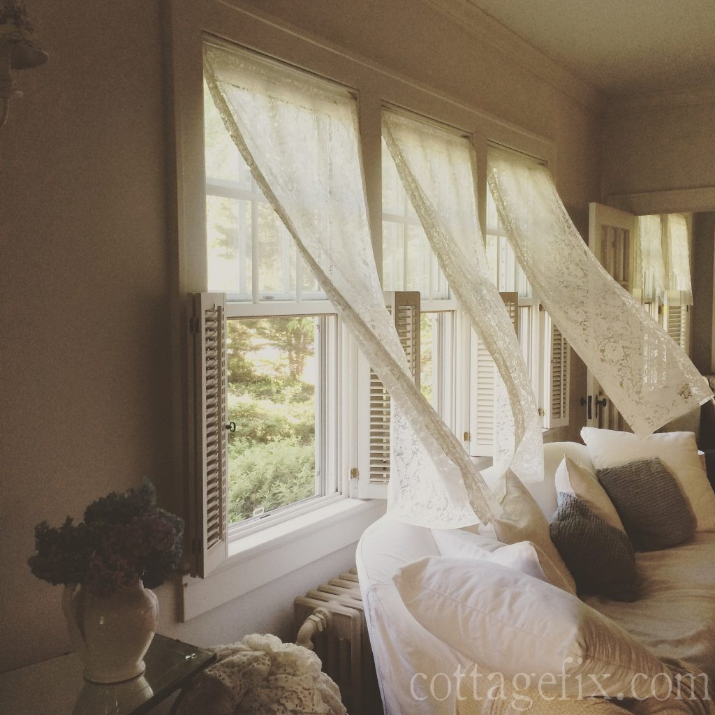 Cottage Fix blog - open windows and fresh air