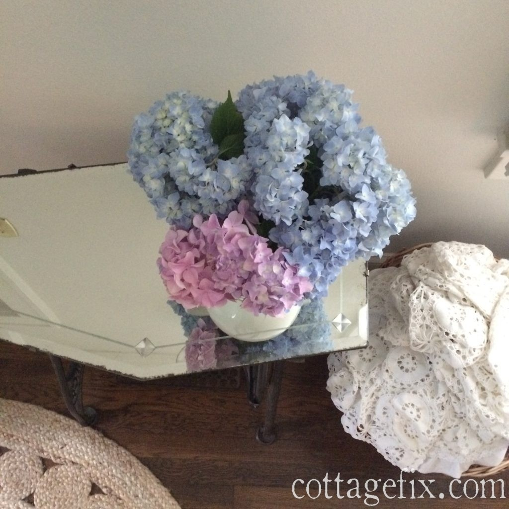 Cottage Fix blog - hydrangeas from the garden