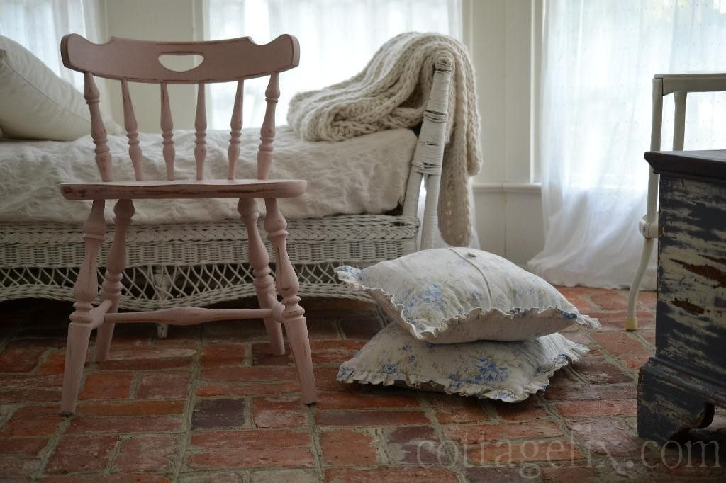 Cottage Fix blog - pink painted chair