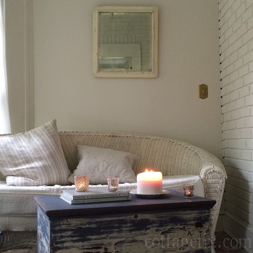 Cottage Fix blog - candlelight on the sun porch