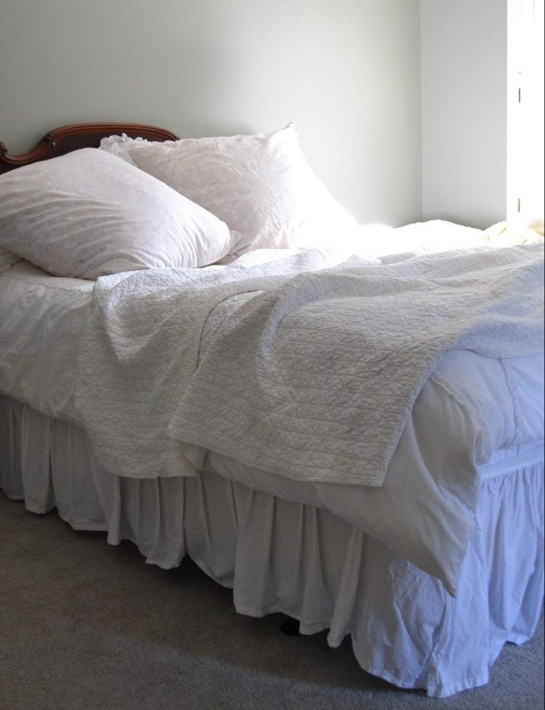 Cottage Fix blog - Louella euro shams and shabby chic bedding