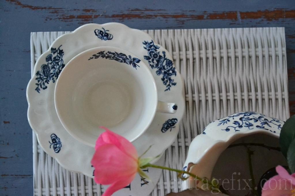 Cottage Fix blog - Booths tea cup and saucer, made in England