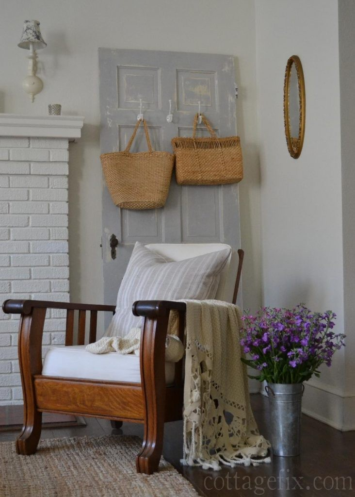 Cottage Fix blog - cottage living room with Morris chair