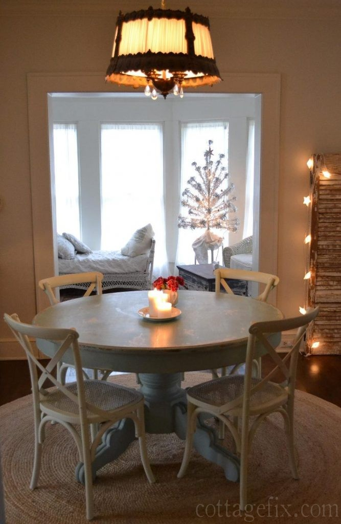 Cottage Fix blog - starry lights and a vintage silver tree