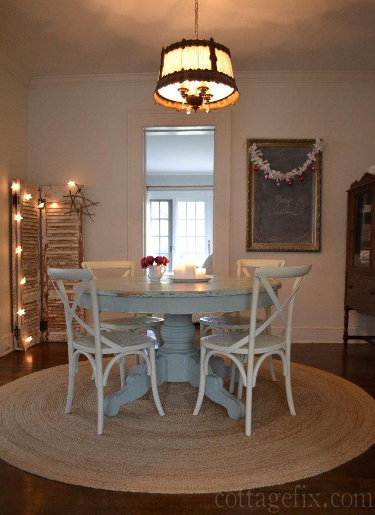Cottage Fix blog - our dining room decked out for Christmas