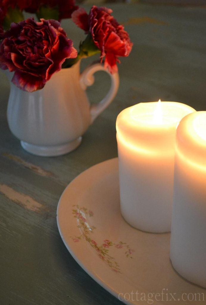 Cottage Fix blog - flowers and candlelight
