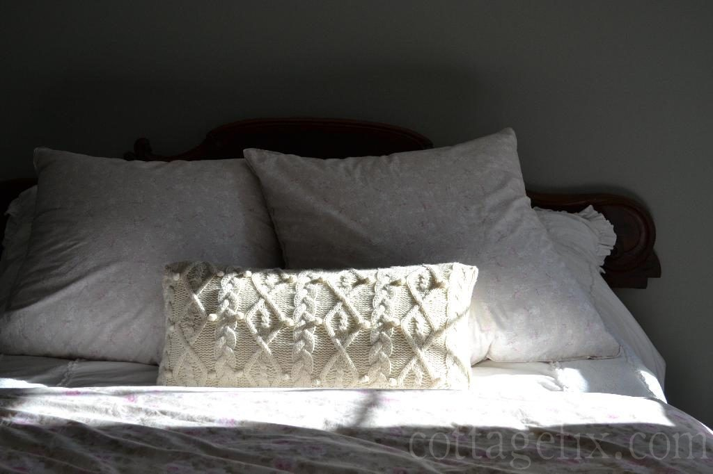 Cottage Fix blog - cream knit oblong pillow