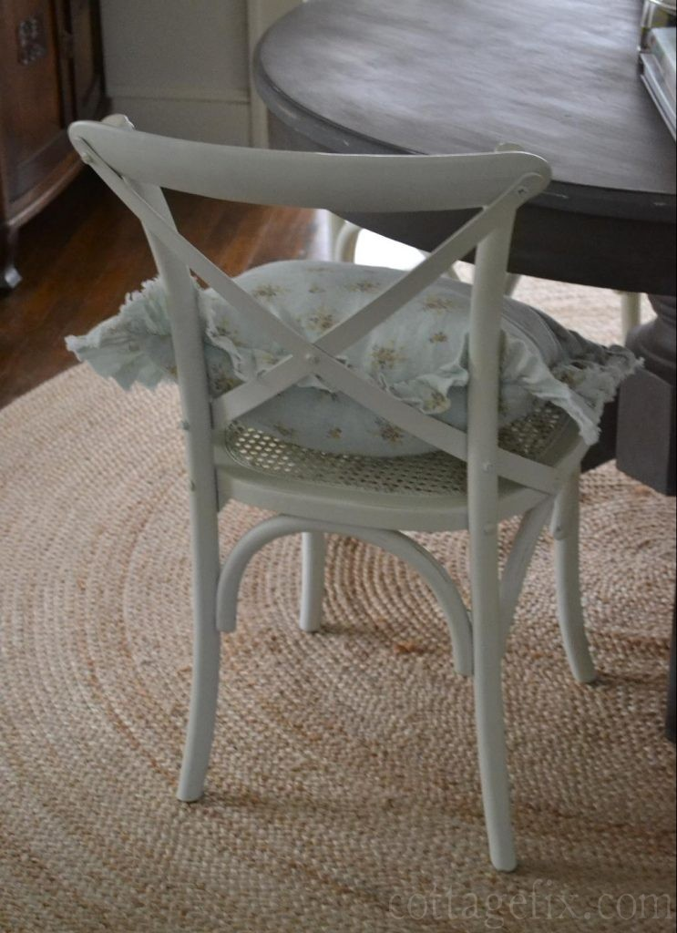 Cottage Fix blog - painted table and shabby chic pillow