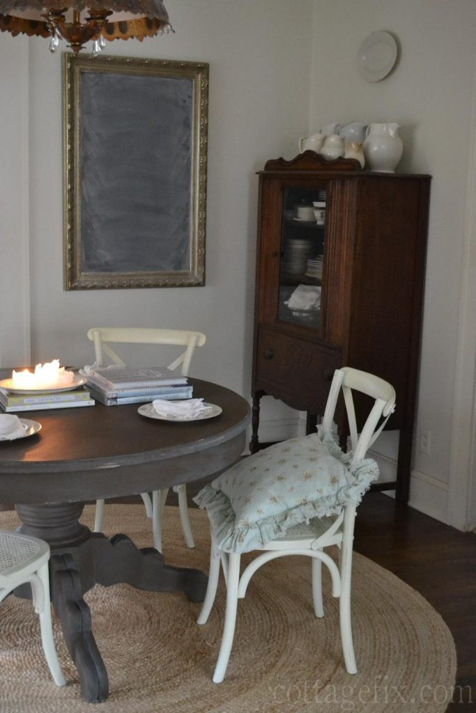 Cottage Fix blog - dining room with painted table