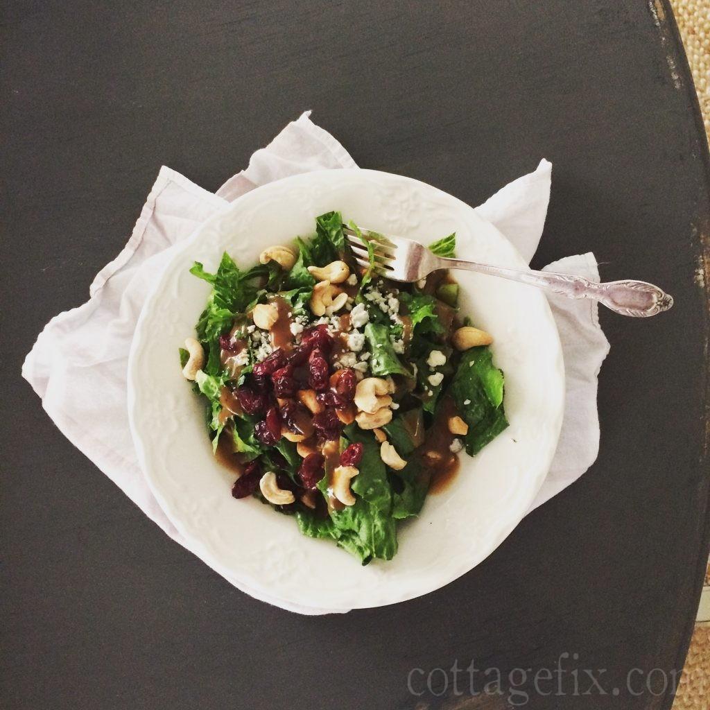 Cottage Fix blog - salad lunch
