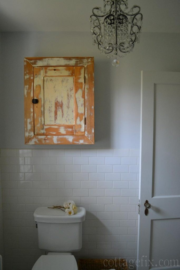Cottage Fix blog - vintage bathroom cabinet