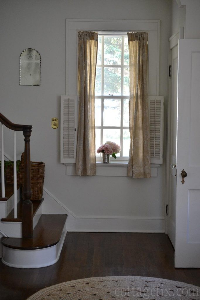 Cottage Fix blog - shabby chic drapes