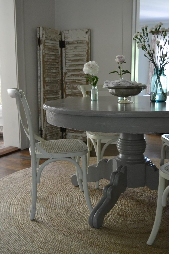 Cottage Fix blog - French Linen painted dining table
