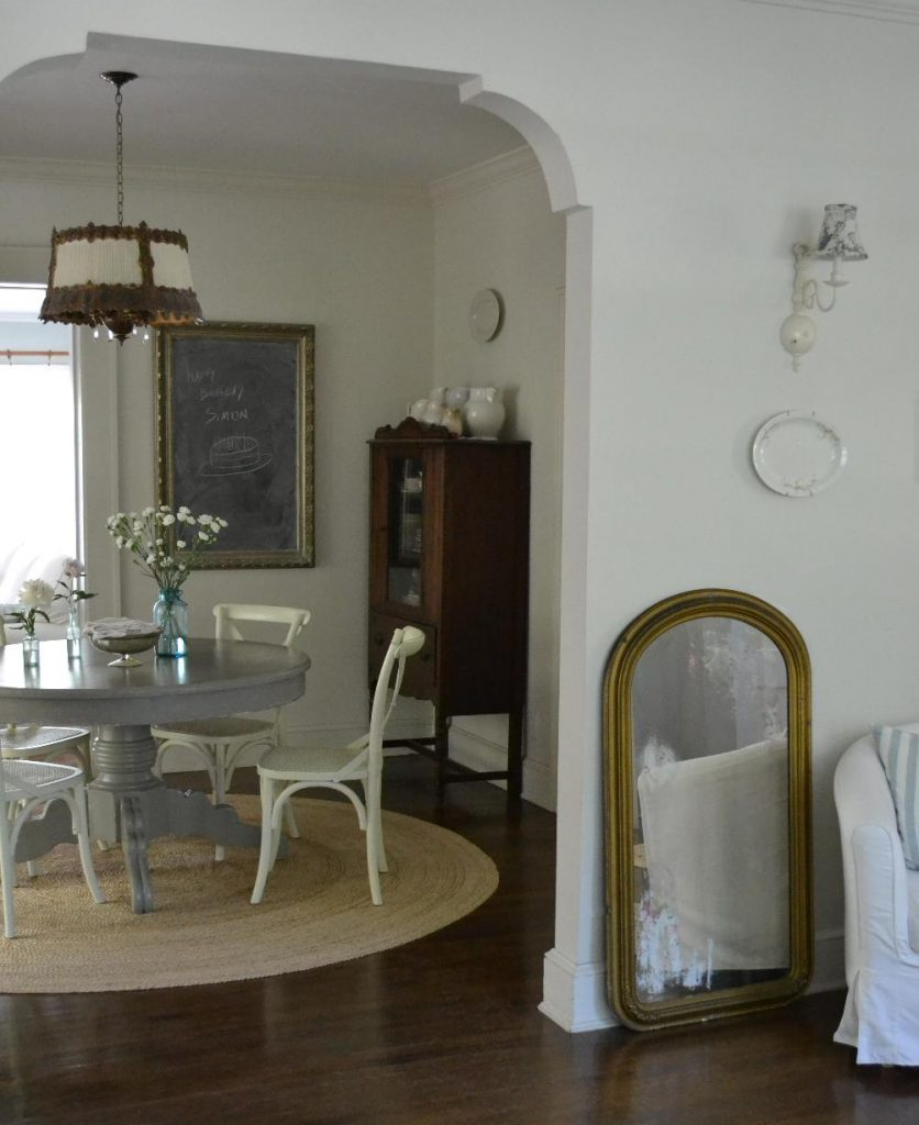 Cottage Fix blog - French Linen painted dining table in our cottage