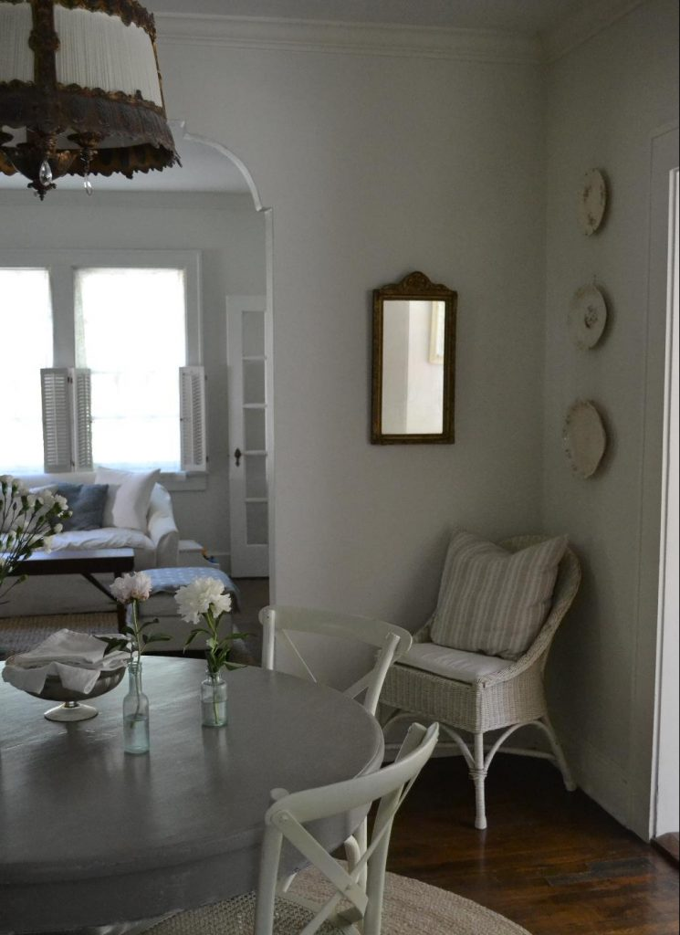 Cottage Fix blog - French Linen dining table
