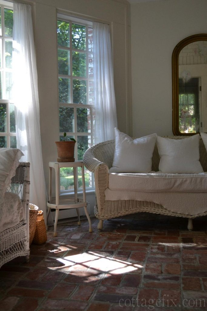Cottage Fix blog - sun porch doused in light and whites