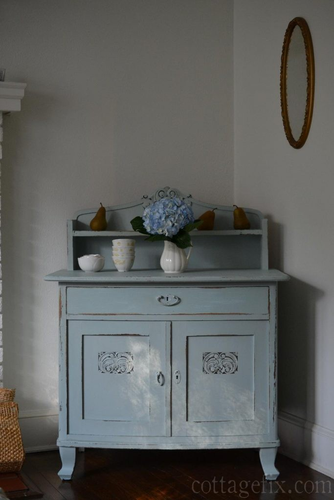 Cottage Fix blog - blue painted chest