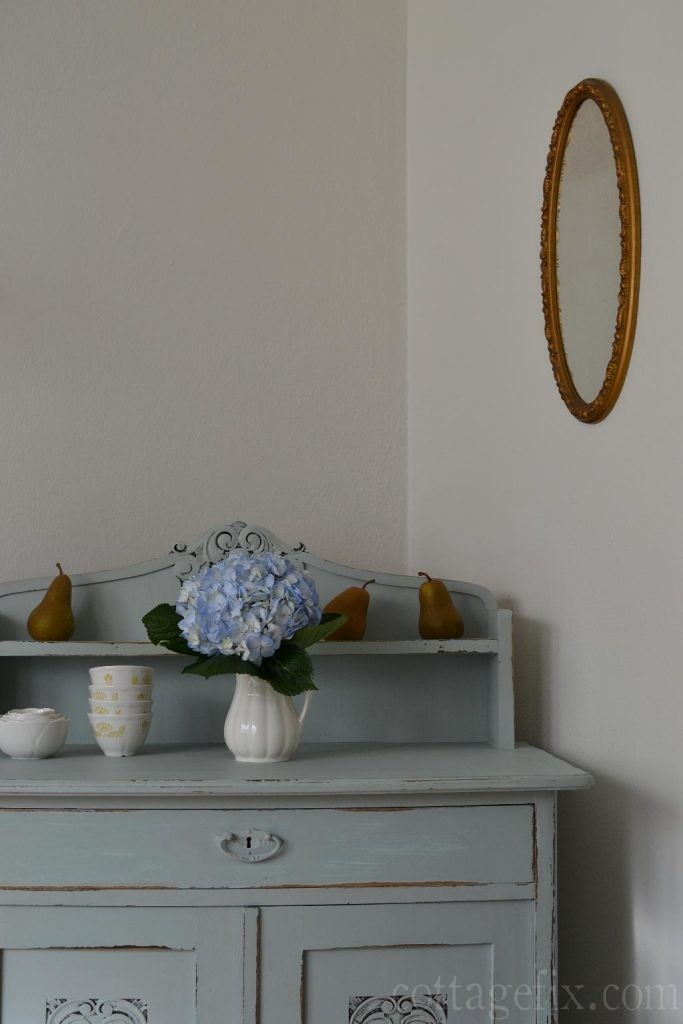 Cottage Fix blog - silvery blue dining table