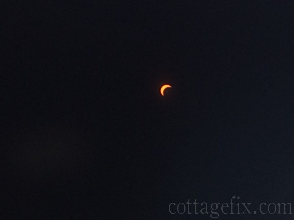 Cottage Fix blog - eclipse 2017