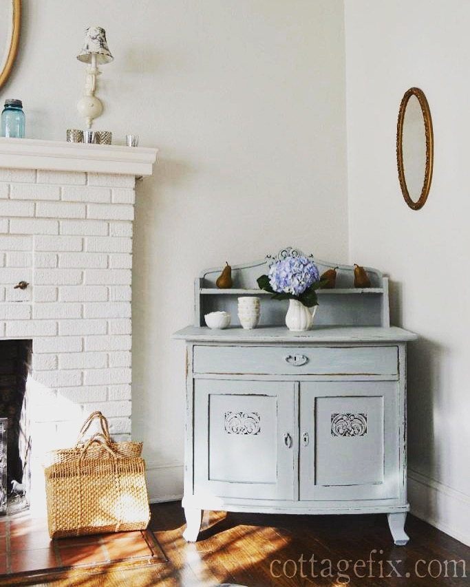 Cottage Fix blog - silvery sage painted chest