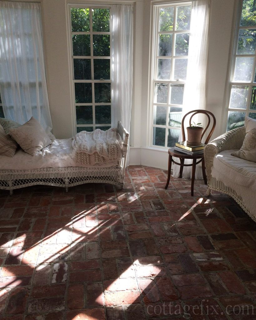 Cottage Fix blog - sun porch with afternoon light