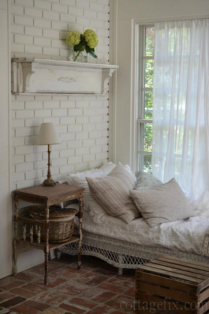 Cottage Fix blog - vintage mantle