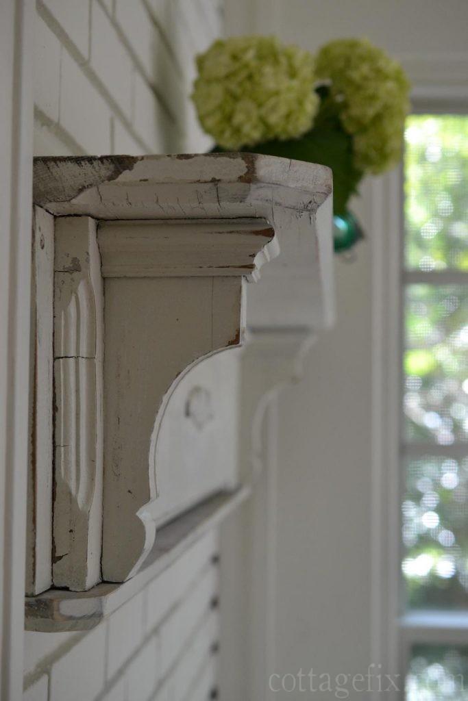 Cottage Fix blog - close up of vintage mantle