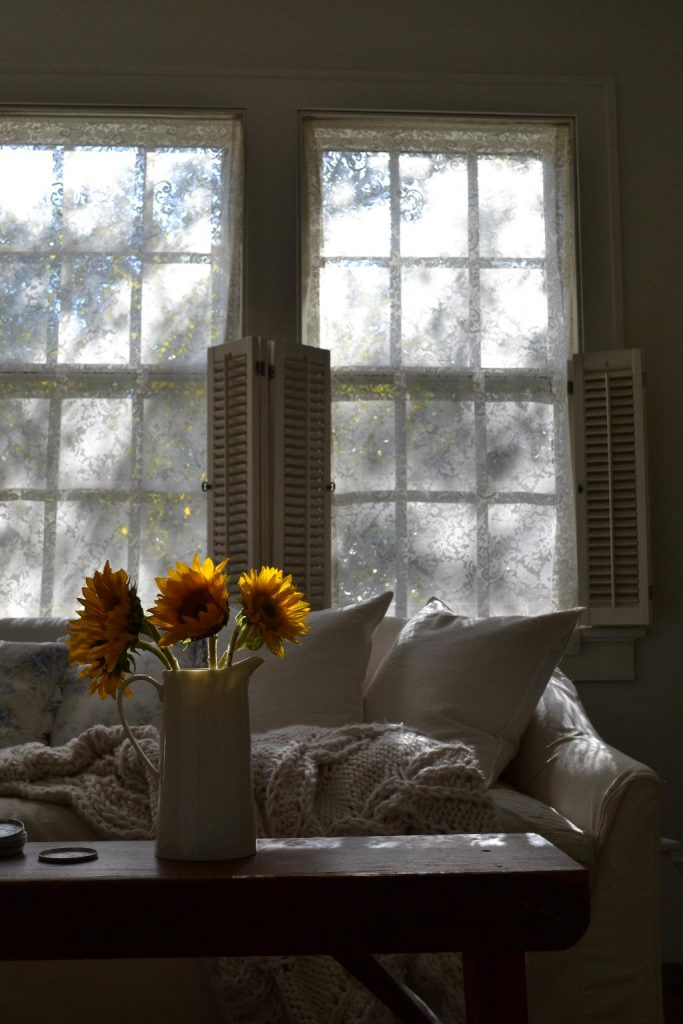 Cottage Fix blog - sunflowers in the fall