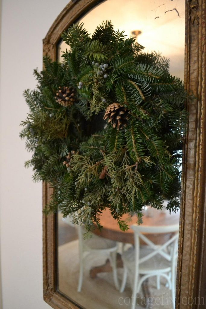 Cottage Fix blog - natural Christmas wreath