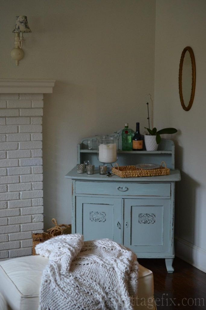 Cottage Fix blog - blue painted chest